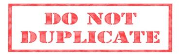 Do_Not_Duplicate